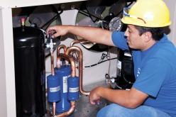 Instalación de unidades condensadoras